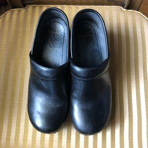 Dansko clogs black leather